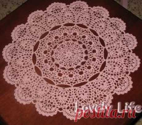 (1944) Free Printable Crochet Doily Patterns | Mantilla Doily - Close up | Crochê e Tricô - Cortinas, Toalhas de mesa