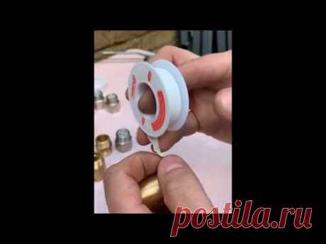 Как правильно паковать фум ленту и шнурок на резьбу. Сантехника