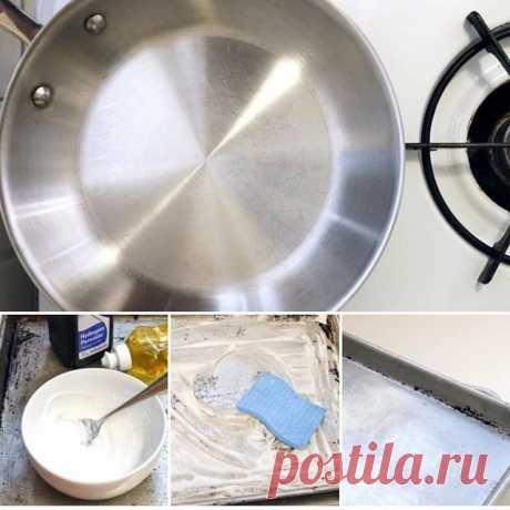 Чистка посуды перекисью водорода