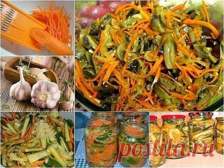 ""\""""Cucumbers with Carrots on Korean"""" saladu000aUnusual and very tasty salad which can be prepared for the future.u000aIngredients:u000a- 2 kg of cucumbers,u000a- 2nd carrots,u000a- 1 head of garlic,u000a- 125 ml of vinegar of 9%u000a- 80 g of sugar,u000a- 100 ml of vegetable oil,u000a- 2 h spoon of salt,u000a- seasoning for the Korean carrots.u000aPreparation:u000a1. I recommend to take large cucumbers as that part which contains seeds to us not to be necessary for this recipe. To grate cucumbers for the Korean carrots, to that hour...""460|345|?|en|2|8b5c97510430452ffb4e4a3c071781fd|False|UNLIKELY|0.327420175075531