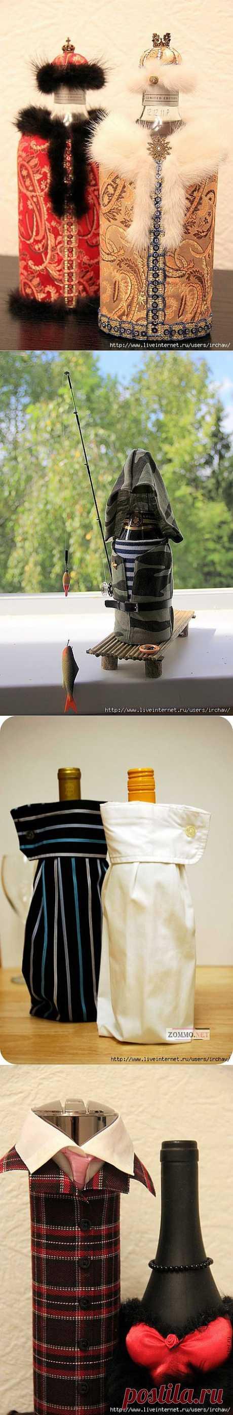 Идеи декорирования винных бутылок + МК.
