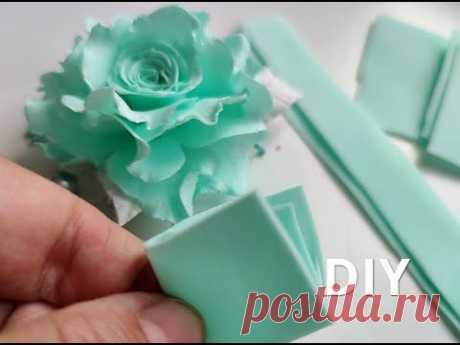 Нежные Розы из фома ЗА 5 МИНУТ 😍😍😍DIY Rose Flower Foam Paper / Flores foamy