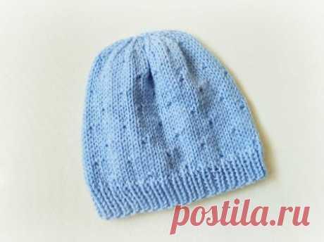 Нежная шапочка спицами - идеально для осени и зимы » «Хомяк55» - всё о вязании спицами и крючком