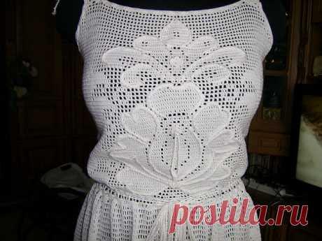 Филейное вязание. | Женская одежда крючком. Схемы и описание