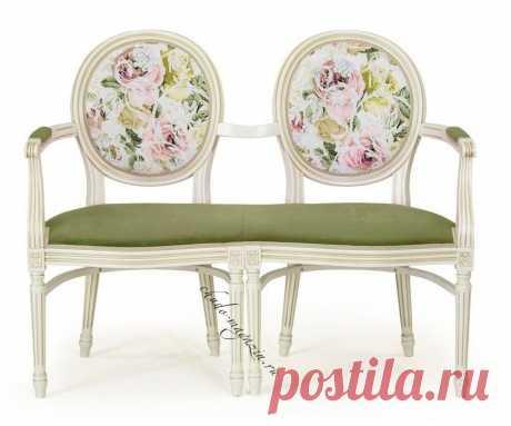 Двухместное кресло с круглыми спинками Луиз-2 Т-14