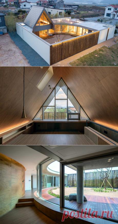 """Дом, в котором высокий забор делает его открытым - Блог """"Частная архитектура"""""""