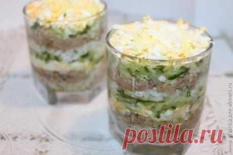 Как приготовить салат из печени трески - рецепт, ингредиенты и фотографии