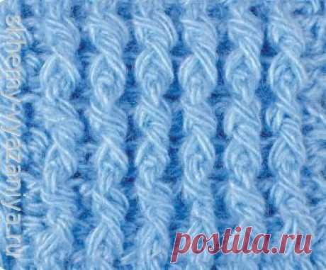 Узор крючком: рельефная резинка крючком | Схемы-Вязания.ру