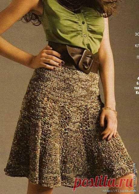 4 часть. Вяжем крючком стильные юбки..