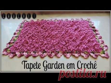 TAPETE GARDEN EM CROCHÊ (PONTO ARGOLA)/DIANE GONÇALVES - YouTube