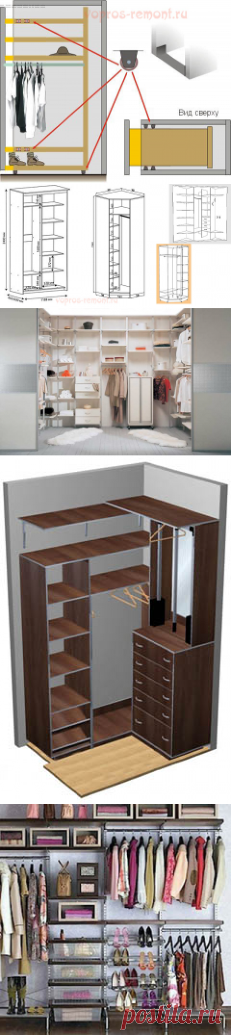 Wardrobe the hands: how to make the room or a case - projects, ideas, the equipment