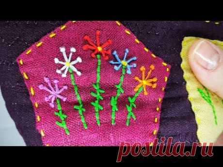 DIY делаю красоту для кухни из остатков ткани.Best use of small fabric pieces . Hand Stitch .