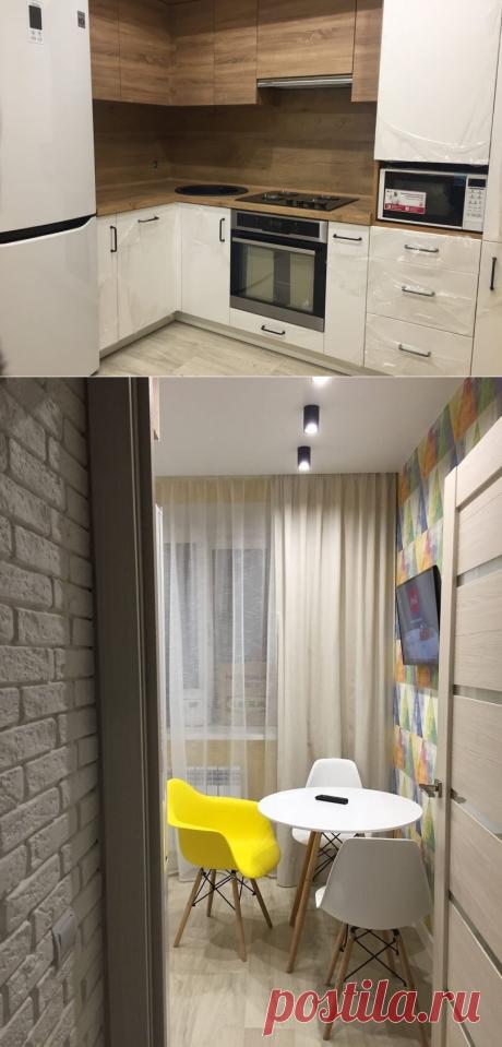 Бюджетный ремонт маленькой квартиры за 650 тыс. с отделкой и мебелью. Показываю что смогли уместить в эту сумму | PROремонт | Яндекс Дзен
