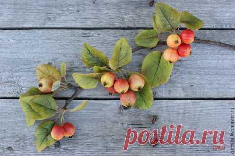 Создаем веточку яблони из полимерной глины - Ярмарка Мастеров - ручная работа, handmade