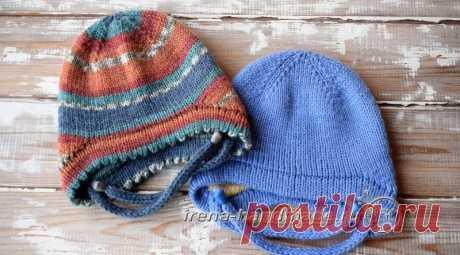 Двойная шапка с ушками, Вязание для детей