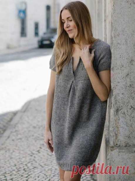 Платье LOTTA связано сверху вниз (Вязание спицами) – Журнал Вдохновение Рукодельницы