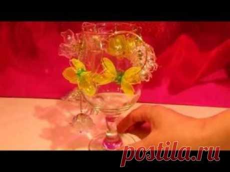 Цветы из пластиковых бутылок🌸 🌹 🌺Оригинальные,стильные и очень лёгкие серьги