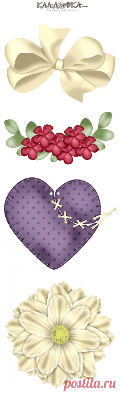 Кладовка...:  Kiss - Поцелуй  Just Bliss - распакованный скрап-набор png для фотошопа