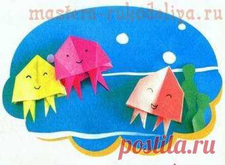 Master class in origami: Jellyfish