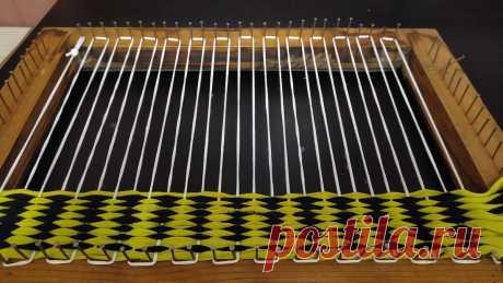 Плетение коврика на рамке. Часть вторая. | Снится мне деревня | Яндекс Дзен