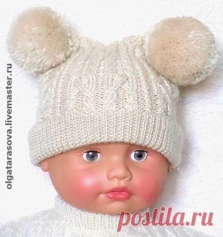 зимняя шапка для девочки спицами - Сумки