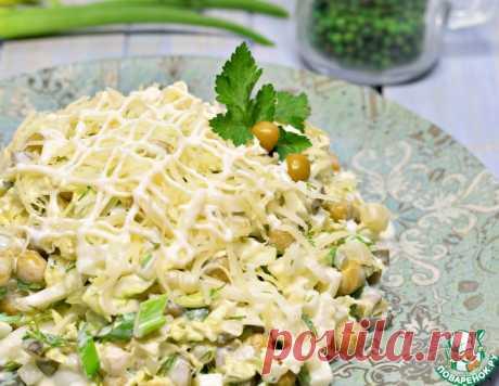 Салат из пекинской капусты с горошком – кулинарный рецепт