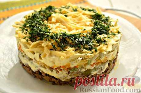 Рецепт: Салат из куриной печени и моркови на RussianFood.com