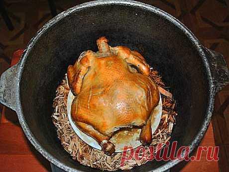 Курица, копченая на кухне - вкус и запах я вам скажу!...