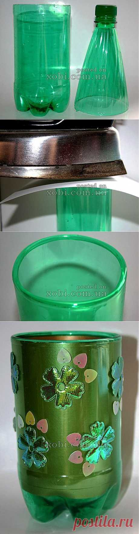 мастер-класс: как скруглить края пластиковой бутылки