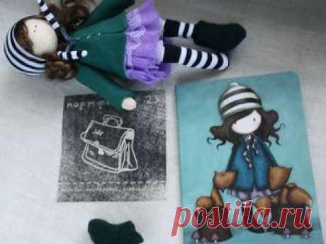 Прекрасный мастер-класс для начинающих — шьем куклу для панно - Ярмарка Мастеров - ручная работа, handmade