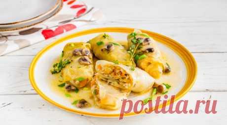 Постные голубцы с грибами и перловкой, пошаговый рецепт с фото