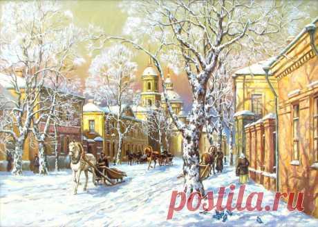 Схема вышивки «Зима в городе» - Вышивка крестом