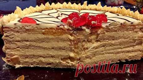 Ресторан дома: Шоколадно миндальный торт Эстерхази