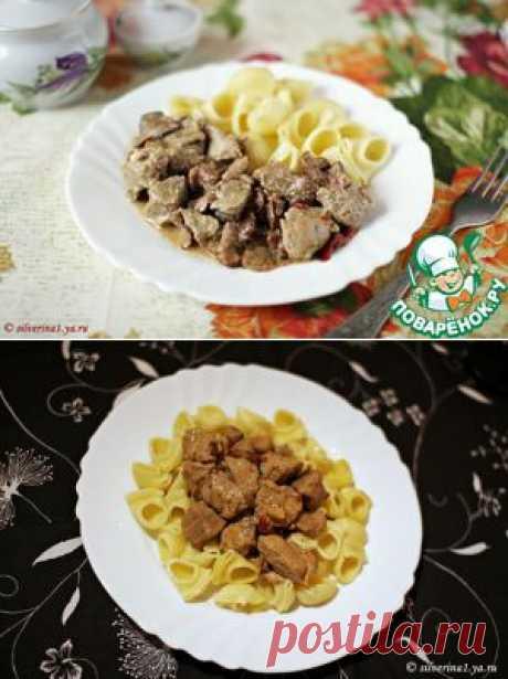 Свинина, тушеная с грибами - кулинарный рецепт