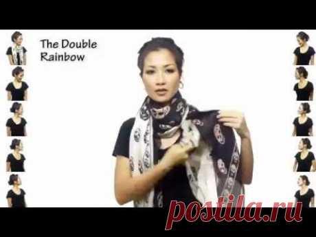 25 способов за 4,5 минуты: повязываем шарфы и платки красиво! | ДОМОХОЗЯЙКИ+