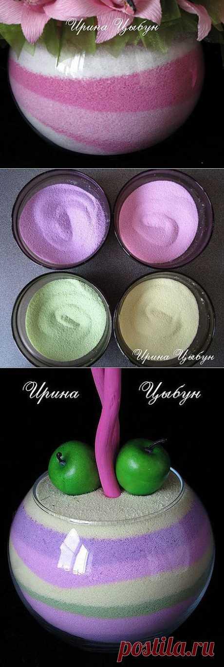 (+1) тема - Цветная соль для декора. Автор Ирина Цыбун | СВОИМИ РУКАМИ