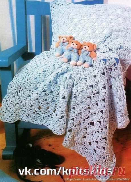 Схемы для вязания детского пледа