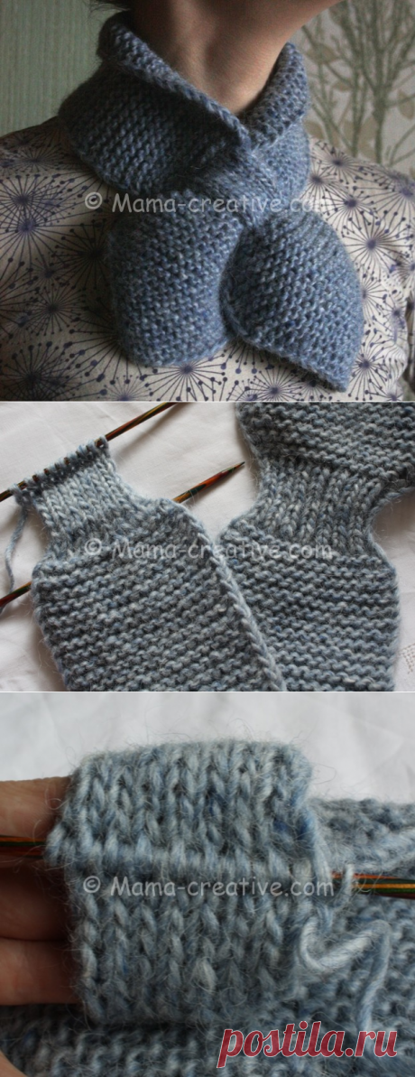 Amateur cunnings: we knit spokes a scarf with a loop | the Mother's Creative
