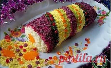 Новогодний салат «Хлопушка»: Ингредиенты Рецепт... - Домашние Рецепты как у мамы