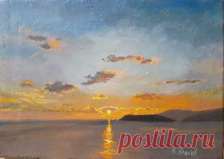 Оранжевый рассвет - Официальный сайт художника Игоря Ясакова