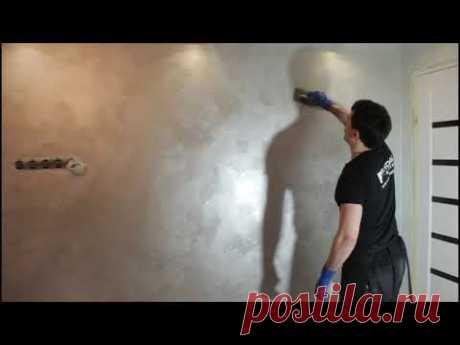 Как красить стены декоративной краской типа OTTOCENTO FEIDAL!