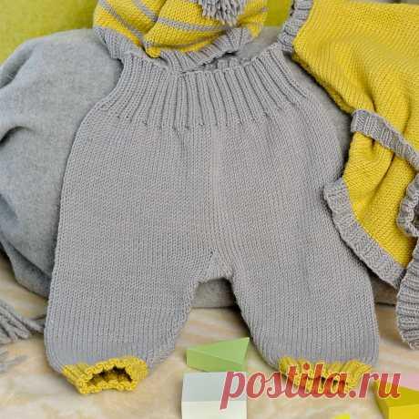 Штанишки для малыша - схема вязания спицами с описанием на Verena.ru