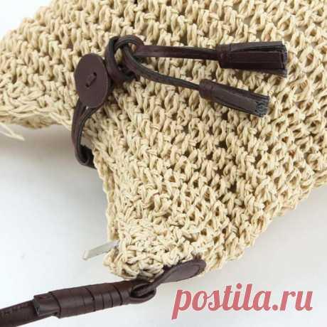295Р--Новая мода тканые Сумки на плечо соломы лето Для женщин переплетения Кроссбоди Beach Travel сумочку купить на AliExpress