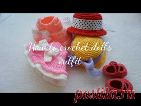 HOW TO CROCHET DOLL'S OUTFIT