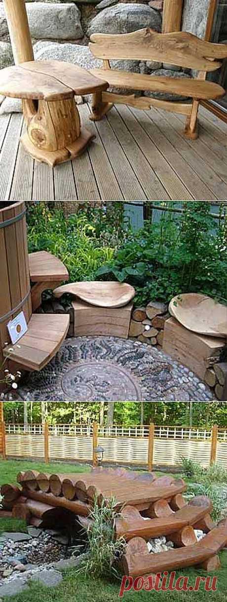 Дачная мебель своими руками из подручных материало