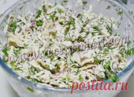 Салат с курицей и редисом - это и вкусно и полезно и здорово!