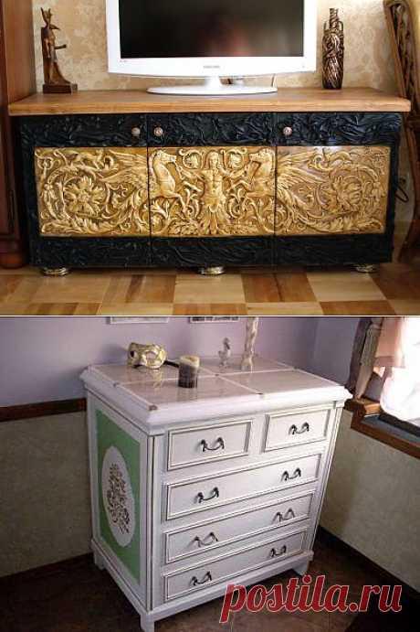 ОРИГИНАЛЬНАЯ ИДЕЯ переделки старой/дешёвой мебели.