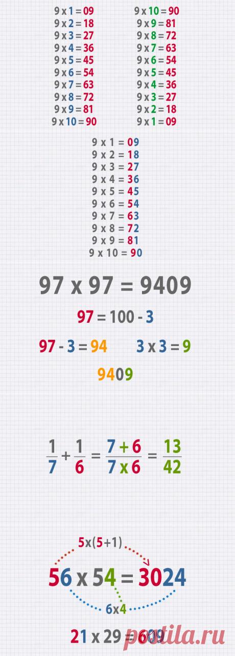Простая арифметика: 9 хитрых трюков | В темпі життя