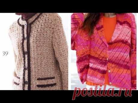 Жакеты и кардиганы крючком - Crochet jackets and cardigans