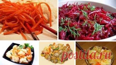 Пять рецептов корейских салатов   1. Морковь по-корейскиИнгредиенты:— 500 г крупной сочной моркови— 1 столовая ложка соли— 3 столовые ложки растительного рафинированного масла— 2 луковицы— 2 столовые ложки уксуса— 2 столовые ложки п…
